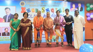 Ponni and Anjali felicitated by Lions club, Madras